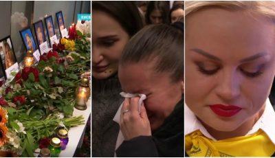 Video. Lacrimi și jale la Aeroportul din Kiev, unde trebuia să aterizeze avionul de la Teheran