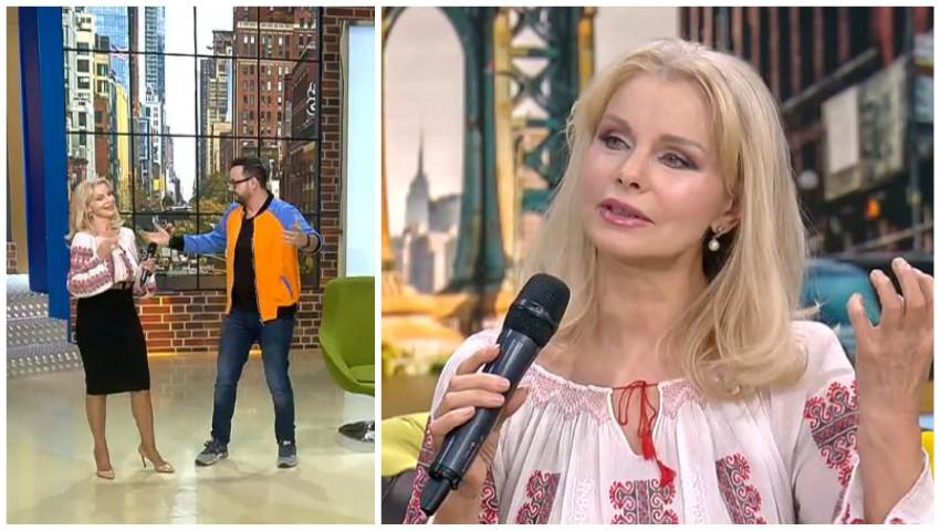 """Foto: De Crăciun pe stil vechi, Anastasia Lazariuc a fost invitată în platoul emisiunii ,,La Măruță"""""""
