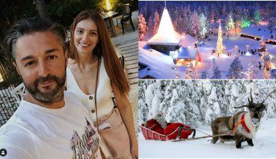 Adrian Ursu și Irina Negară, vacanță de poveste în Laponia, împreună cu Maria-Andreea! Video