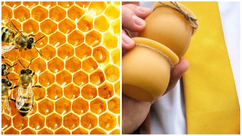Foto: Unică în lume. O companie ambalează mierea în borcane din ceară