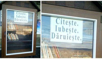 Foto. O mini-bibliotecă cu acces gratuit non stop la Sipoteni, Călărași