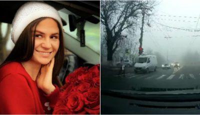 Video. Momentul în care interpreta Tatiana Spînu a fost lovită pe trecerea de pietoni, surprins de o cameră de bord