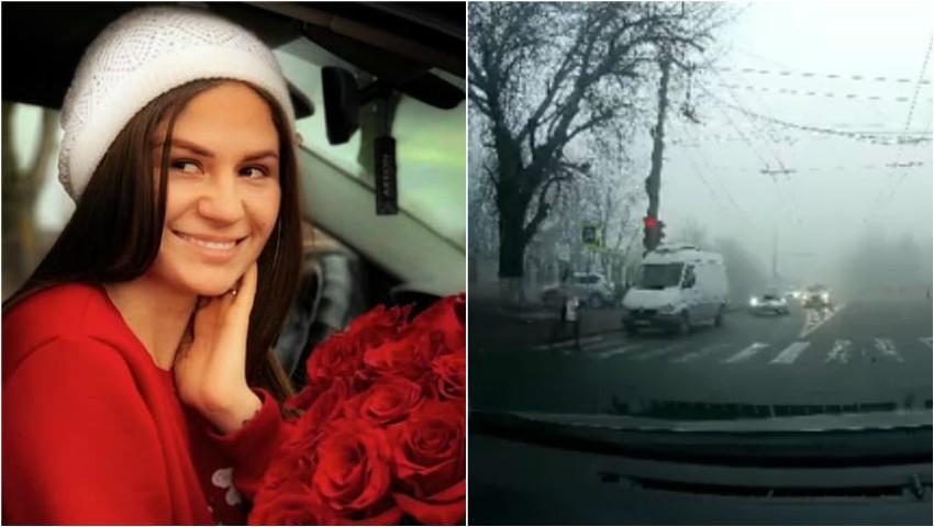 Foto: Video. Momentul în care interpreta Tatiana Spînu a fost lovită pe trecerea de pietoni, surprins de o cameră de bord
