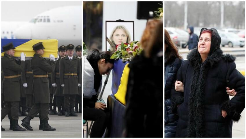 Foto: Cei 11 cetățeni ucraineni, decedați în urma prăbușirii avionului lângă Teheran, au fost repatriați în Ucraina