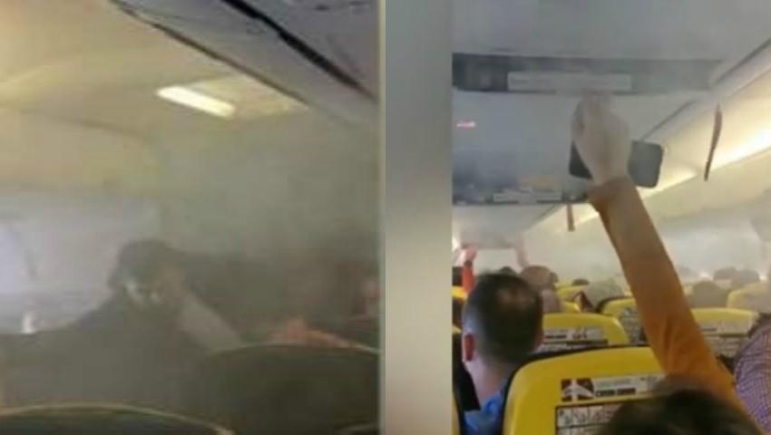 Foto: Panică teribilă la bord, pasageri înecați de fum! Un avion de pe cursa București-Londra, întors pe Otopeni