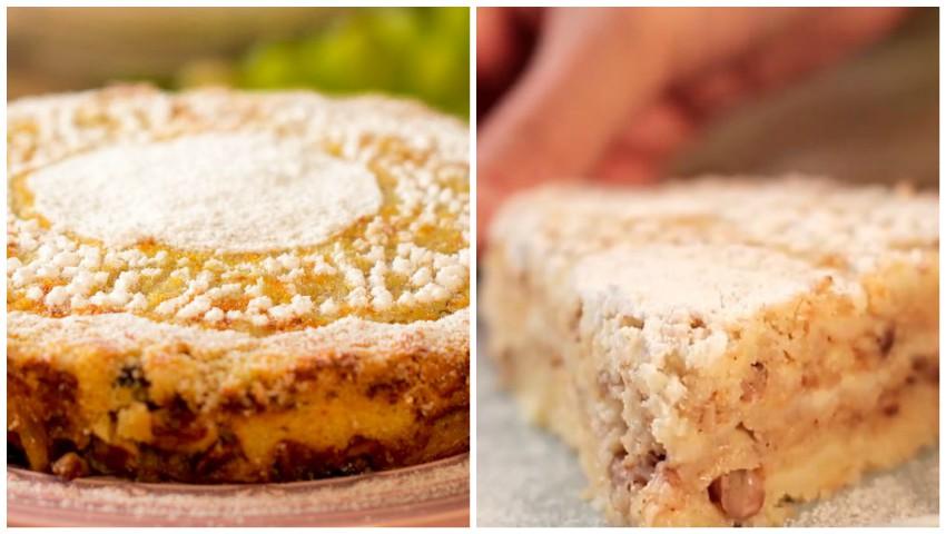 Foto: Ți se topește în gură! Chec cu mere pufos și aromat, preparat în 10 minute