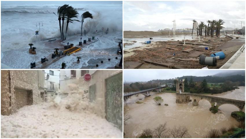 Foto: Furtuni devastatoare în Spania. 13 oameni au murit, iar câțiva sunt dați dispăruți