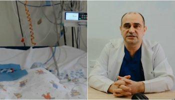 Medicii moldoveni au operat cu succes un nou-născut, diagnosticat cu atrezia valvei pulmonare