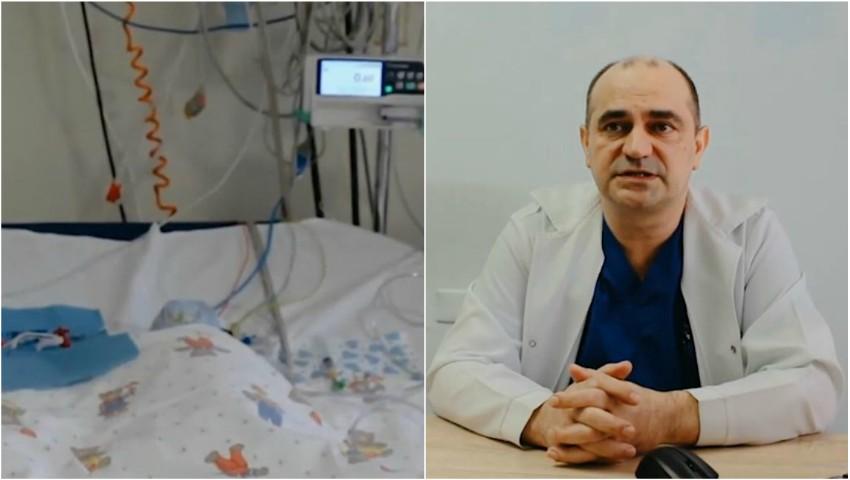 Foto: Medicii moldoveni au operat cu succes un nou-născut, diagnosticat cu atrezia valvei pulmonare