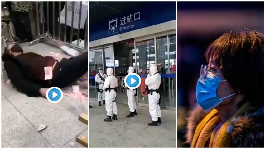 Foto: Imagini de coșmar din China: bolnavii zac pe jos în spitale, gările sunt păzite cu arme automate