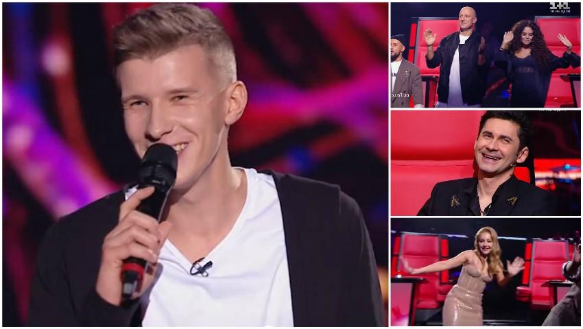 """Foto: Dan Bălan, surprins cu o piesă din repertoriul său, la ,,Vocea Ucrainei"""". Melodia i-a ridicat de pe scaune pe jurați!"""