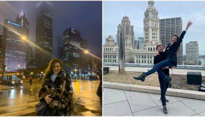 Tatiana Heghea și soțul ei, într-o vacanță de vis la Chicago! Foto