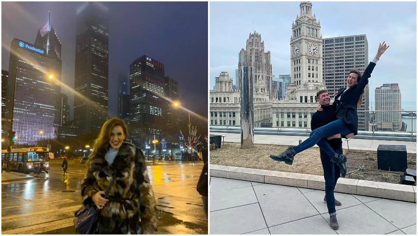 Foto: Tatiana Heghea și soțul ei, într-o vacanță de vis la Chicago! Foto