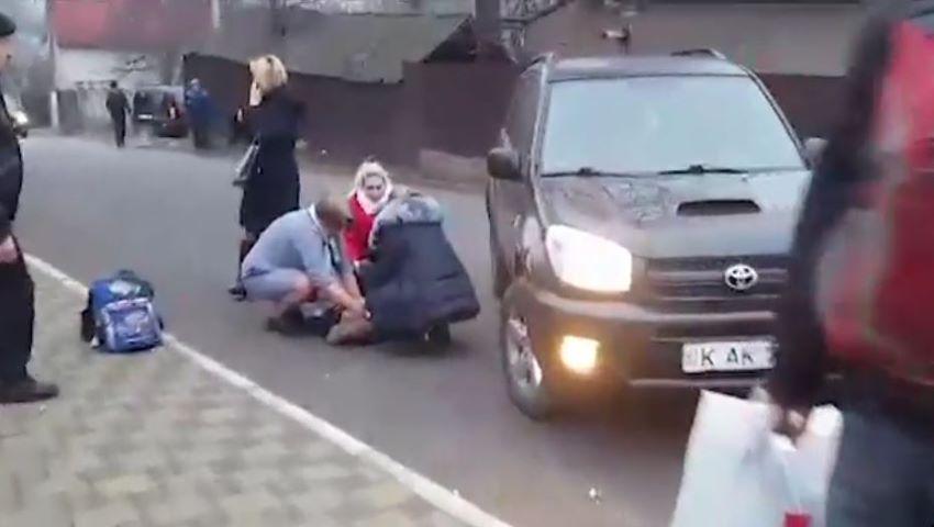 Foto: Un copil, lovit violent de o mașină la Durlești. Imagini cu impact emoțional puternic