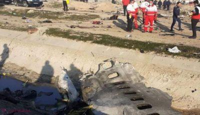 Avionul ucrainean prăbușit în Iran a fost doborât de o rachetă antiaeriană, arată imaginile surprinse de un satelit