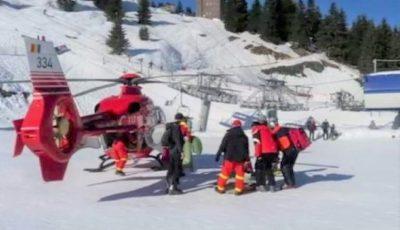 Un copil de 10 ani a suferit un traumatism la coloană, în vacanța la munte