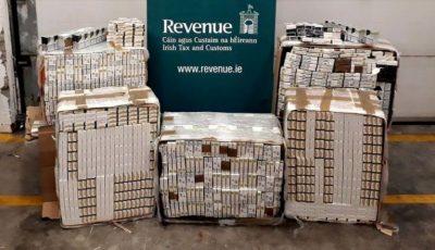 Un lot de 87 de mii de țigări de contrabandă, aduse din Moldova, a fost depistat de poliția din Dublin
