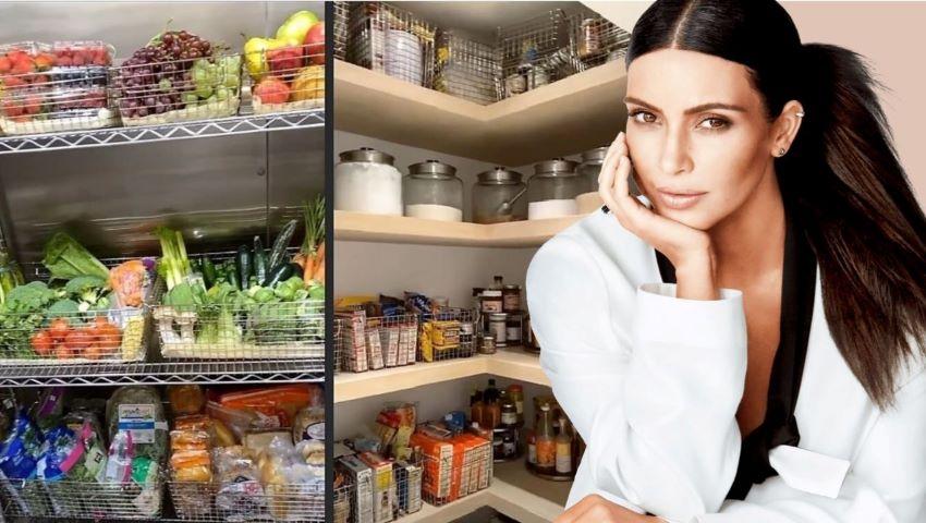 Foto: Ce are în frigider Kim Kardashian? Vedeta a arătat ce mănâncă familia ei