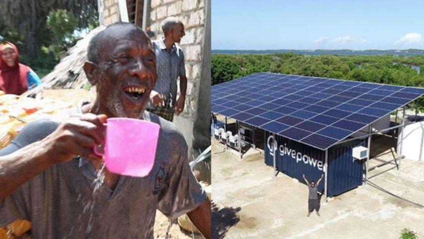 Foto: Lacrimi de bucurie. În Kenya, a fost instalat un panou solar care transformă apa oceanelor în apă potabilă