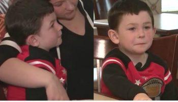 Un băieţel de 5 ani și-a salvat toată familia din incendiul care le-a distrus casa