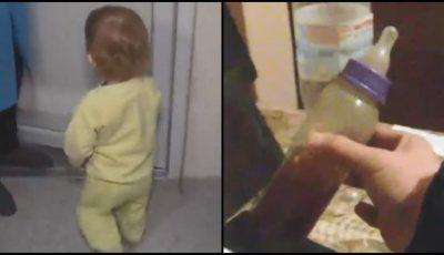 O fetiţă de 1 an, găsită abandonată în frig, cu un biberon plin cu votcă și ceai lângă ea