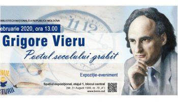 """Expoziția ,,Grigore VIERU – Poetul secolului grăbit"""" a fost inaugurată la Biblioteca Națională"""