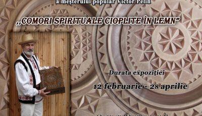 """""""Comori spirituale cioplite în lemn"""" – expoziție aniversară a celebrului Meșter Popular Victor Pelin"""