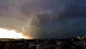 Video. Furtuna Ciara, sosită din nordul Europei, a trecut prin Căușeni