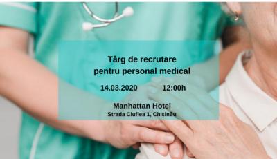 Chișinău: Târg de recrutare pentru personal medical, în scopul plasării în câmpul muncii din Germania