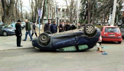 Accident violent în centrul Capitalei. Primele imagini