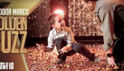 """La 6 ani, Theodor face calcul japonez mental. Băiețelul a obținut Golden Buzz la ,,Românii au Talent"""""""