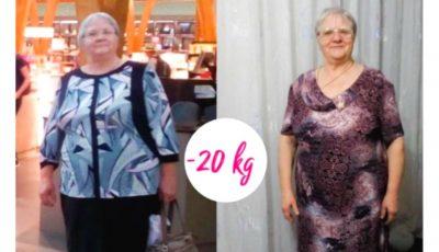 Emilia a reușit să slăbească 20 de kg, la vârsta de 65 de ani. Iată cum a reușit!