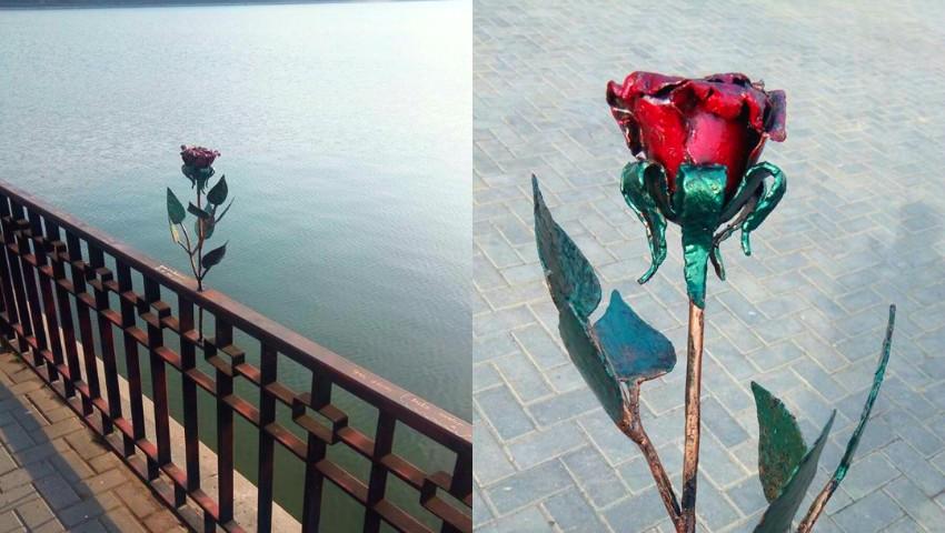 """Foto: Foto! Trandafirul Micului Prinț, din parcul ,,Valea Morilor"""", a fost restaurat"""