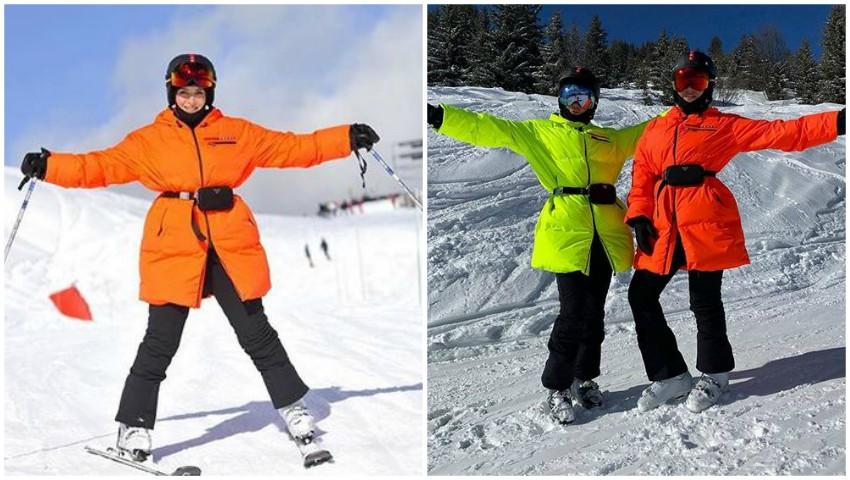 Foto: Jasmin își încarcă bateriile la munte, alături de soția purtătorului de cuvânt al lui Vladimir Putin
