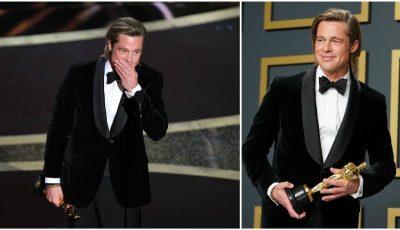Video emoționant! Brad Pitt a câștigat primul său Oscar! Actorul a dedicat premiul copiilor săi