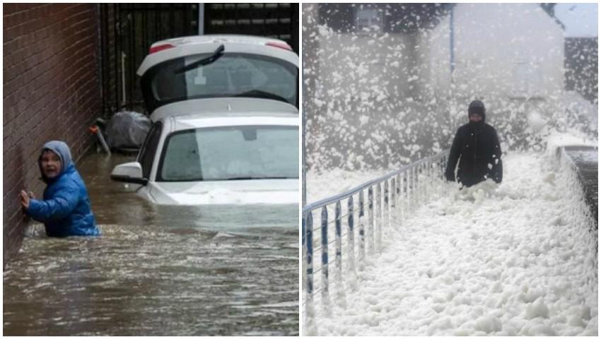 Foto: Cod roșu în Marea Britanie. Furtuna Dennis face ravagii. Armata s-a mobilizat
