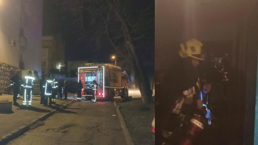 Foto: Incendiu puternic într-un apartament din Capitală: o femeie și-a pierdut viața