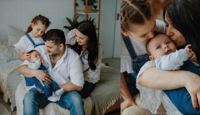 Valentin Uzun, într-o ședință foto emoționantă alături de soție și copii! Foto