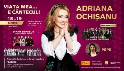"""""""Viața mea… e cântecul!"""" – Adriana Ochișanu își invită fanii la 2 zile de spectacol plin de emoții!"""