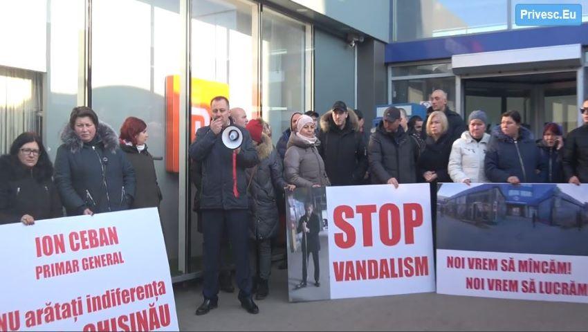 Foto: Protest la Autogara Centrală din Chișinău