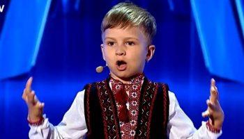 """Video! Un băiețel de 4 ani, din Chișinău, a cucerit juriul de la ,,Românii au Talent"""""""