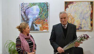 Picturile profesorului Boris Isac din Florești sunt expuse la Soroca