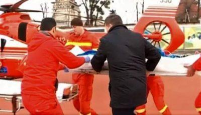 O minoră, adusă la Chişinău cu elicopterul Smurd. A căzut încercând să-şi facă un selfie