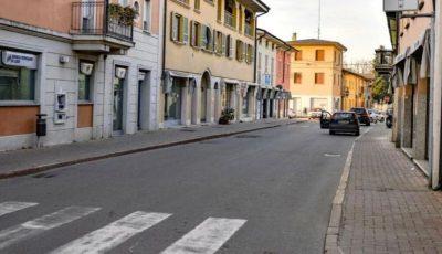 Străzii pustii în Italia, în localitatea în care a fost înregistrat primul deces de coronavirus