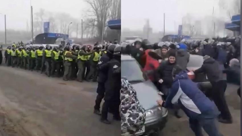 Foto: Panică și disperare în Ucraina. Oamenii nu vor să-i primească acasă pe conaționalii lor  evacuați din China