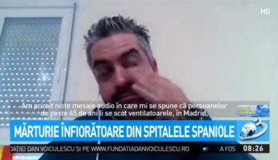 """Medic în lacrimi: """"Ni s-a spus să-i lăsăm să moară pe cei bătrâni!"""" Sistemul medical din Spania, în topul celor mai bune din lume, este în colaps"""