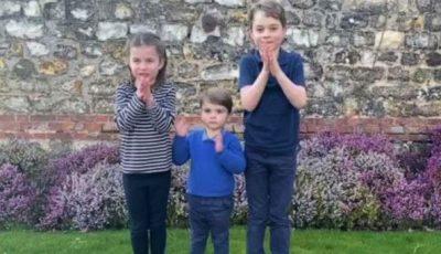 Prinții George, Charlotte și Louis aplaudă medicii, într-un video emoționant!