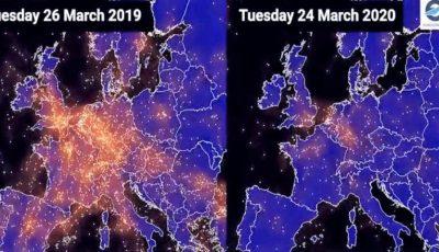 Video spectaculos. Imaginile care arată declinul traficului aerian în Europa din cauza pandemiei de coronavirus