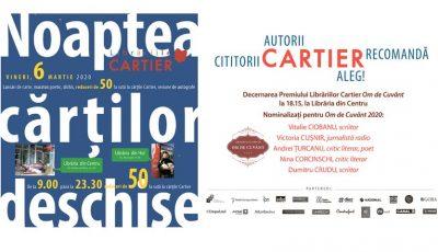 Editura Cartier serbează 25 de ani de activitate! Bucură-te de oferte surprinzătoare la Noaptea Cărților Deschise