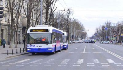 În zilele de weekend, transportul public din Chișinău va circula conform unui grafic special